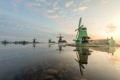 Zanes-Schans netherlands Olandese, mulino fotografia stock