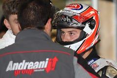 zanetti команды pata lorenzo ducati 1098r участвуя в гонке Стоковые Фотографии RF