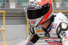 zanetti команды pata lorenzo ducati 1098r участвуя в гонке Стоковая Фотография