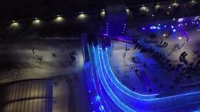 Zangão bonito aéreo 4k do helicóptero de Moscou filme