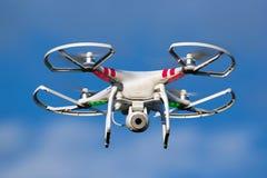 Zangão da câmera de Quadcopter Fotografia de Stock