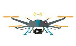 Zangão de controle remoto com vetor da câmera Projeto liso Fotografia de Stock Royalty Free