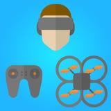 Zangão de VR Fotografia de Stock Royalty Free