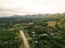 zangão disparado da natureza da paisagem em Tailândia Imagens de Stock