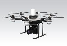 Zangão montado com o DSLR para a fotografia aérea ilustração stock