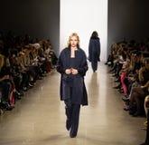 Zang Toi FW19 pasa startowego przedstawienie jako część new york fashion week tam zdjęcie royalty free