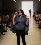 Zang Toi FW19 pasa startowego przedstawienie jako część new york fashion week tam obraz royalty free