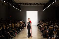 Zang Toi FW19 Runway show as part of there New York Fashion Week stock photography