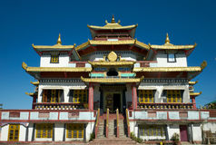 Zangdhogpalri kloster Arkivfoto