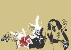 Zanger stock illustratie