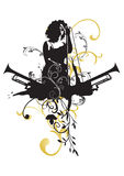 Zanger royalty-vrije illustratie
