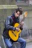 Zangers en musici bij het Randfestival, Edinburgh, Schotland royalty-vrije stock fotografie