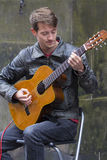 Zangers en musici bij het Randfestival, Edinburgh, Schotland stock fotografie