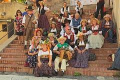 Zangers en musici van Abruzzo, Italië royalty-vrije stock foto's