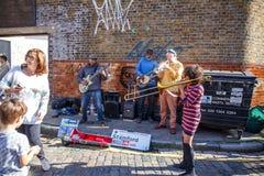 Zangers op de straat Stock Foto's