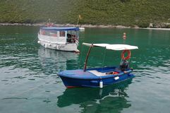Zanice beach. Montenegro. City, water. royalty free stock photo