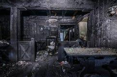 zaniechana austeria po dużego ogienia Obrazy Royalty Free