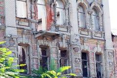 Zaniechana budynek fasada Obrazy Stock