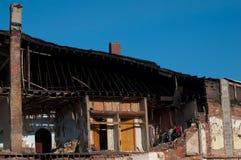 Zaniechana budynek rozbiórka Zdjęcia Stock