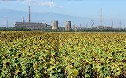 Zaniechana fabryka dla manufaktury metale w Bułgaria obrazy royalty free
