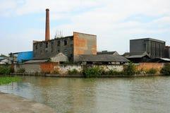 Zaniechana fabryka w Chiny Obrazy Royalty Free