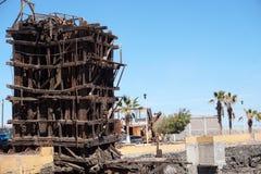 Zaniechana fabryka w Santa Rosalia Meksyk obraz royalty free