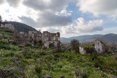 Zaniechana Grecka wioska Kayakoy, Fethiye, Turcja zdjęcia royalty free