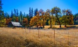 Zaniechana jesieni stajnia obrazy stock