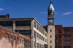 Zaniechana Koronkowa fabryka i wierza - Scranton, Pennsylwania obraz stock