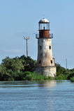 Zaniechana latarnia morska Sulina, Danube delta Zdjęcia Royalty Free