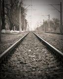 zaniechana linia kolejowa Zdjęcie Stock