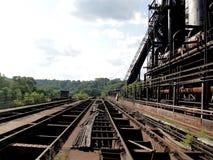 Zaniechana linii kolejowej stacja Zdjęcie Royalty Free