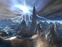 zaniechana obca forteczna burza ilustracja wektor