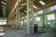 Zaniechana Przemysłowa fabryka obrazy stock