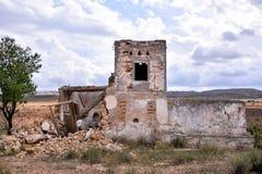 Zaniechana pustynia domu powierzchowność Fotografia Stock