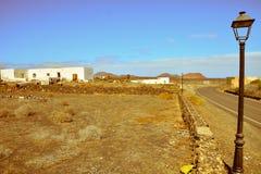 Zaniechana pustynia domu powierzchowność Zdjęcia Stock