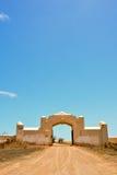 Zaniechana pustynia domu powierzchowność Obrazy Stock