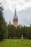 Zaniechana rezydencja ziemska w Lentvaris Zdjęcia Royalty Free