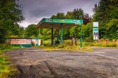 Zaniechana stacja benzynowa w Redesdale Obraz Stock