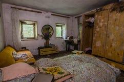 zaniechana sypialnia z foremką obrazy royalty free