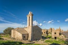 Zaniechana wioska Occi blisko Lumio w Corsica obraz royalty free