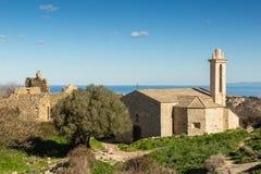 Zaniechana wioska Occi blisko Lumio w Corsica zdjęcia royalty free