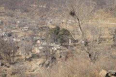 zaniechana zdewastowana wioska Zdjęcia Stock