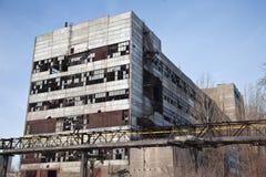 zaniechane fabryczne przemysłowe ruiny Obrazy Royalty Free