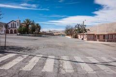 Zaniechane ulicy, Chuquicamata miasto widmo Zdjęcie Stock