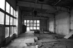 zaniechanego budynku przemysłowy stary Fotografia Royalty Free