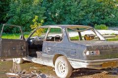 zaniechanego tła samochodowy stary Zdjęcia Royalty Free