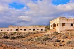 Zaniechani budynki Militarna baza zdjęcia royalty free