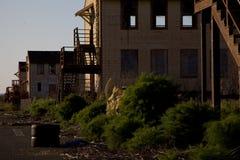 Zaniechani budynki na Kobyliej wyspie Obrazy Stock