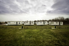 Zaniechani campingowi carvans Fotografia Royalty Free